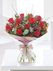 Large Christmas Red Rose