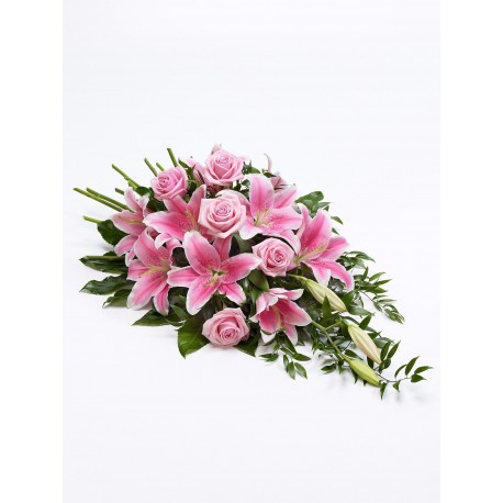 Rose and Lily Spray - Pink