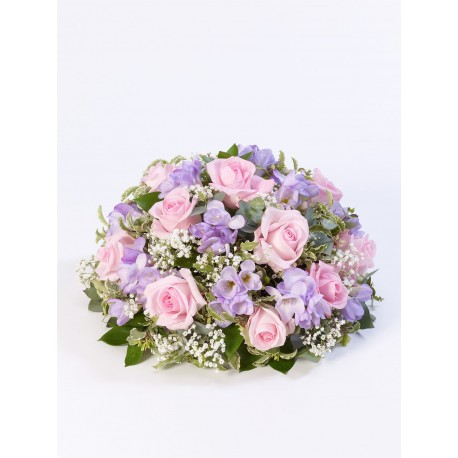 Rose and Freesia Posy - Lilac & Pink
