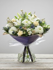 Extra Large Twinkling Whites Hand-tied