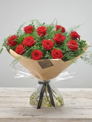 Heavenly Red Rose Hand-tied