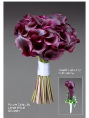 Purple Calla Lily Buttonhole