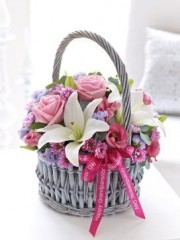 Grandparents' Day Pastel Basket Arrangement